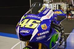 Vada in automobile l'Expo della bici, Yamaha M1 Valentino Rossi 46 fotografia stock libera da diritti