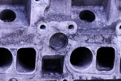 Vada in automobile ruggine di lerciume grigio di industria della lavorazione dell'alluminio del ferro dell'estratto della struttu Fotografia Stock