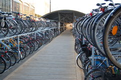 Vada in bicicletta il parcheggio Immagine Stock Libera da Diritti