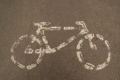 Vada in bicicletta il segnale stradale Fotografia Stock