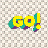 VADA! - Carta di tipografia con iscrizione Manifesto di Minimalistic Immagini Stock