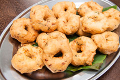 Vada, de traditionele Zuidelijke snack van India Royalty-vrije Stock Afbeelding