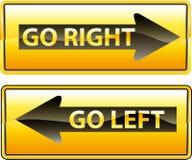 Vada a destra illustrazione vettoriale