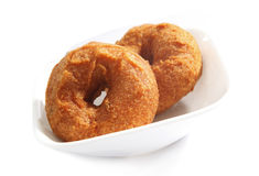 Vada is donut, made with urad dal flour, Royalty Free Stock Image