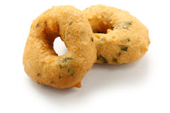 Vada, indian snack food. Vada is donut, made with urad dal flour, indian snack food Royalty Free Stock Photo