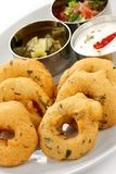 Vada, Indisch snackvoedsel Royalty-vrije Stock Afbeeldingen