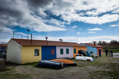 Vada, Leghorn, Tuscany - The old small houses of fishermen of Va Stock Image