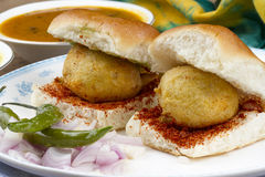 Vada Pav Royalty Free Stock Photography