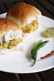 Vada Pav - A maharashtrian snack Stock Photo