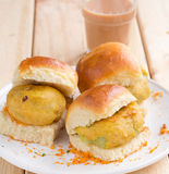 Vada Pav, petisco do teatime imagem de stock royalty free