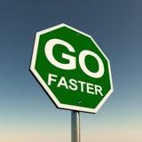 Vada più velocemente Fotografia Stock