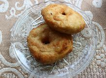 Vada. South Indian Snack Vada on the plate Royalty Free Stock Photos