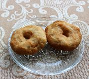 Vada. South Indian Snack Vada on the plate Royalty Free Stock Photo