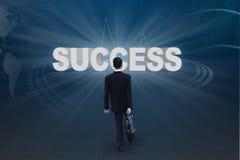 Vada a successo Immagini Stock