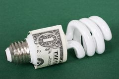 Vada verde e risparmi i soldi Immagine Stock Libera da Diritti