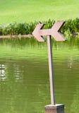 Vada verso ovest (simbolo e uccelli migratori della freccia) Fotografia Stock