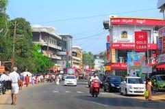 Vadakkencherry: i stadens centrum kerala, Indien Royaltyfria Foton