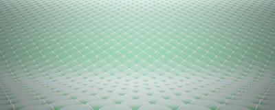 Vadderad tygyttersida Läder för sammet för turkos vit och Alternativ 2 arkivfoto