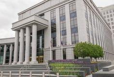 Vade- domstolar som bygger i Denver Colorado Arkivbilder