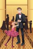 Vader die met zijn dochter dansen Stock Fotografie