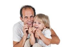 Vader een zoon Stock Foto