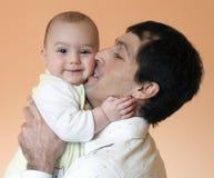 Vader en baby Royalty-vrije Stock Fotografie
