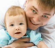 Vader en baby stock fotografie