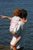 Vader en dochter Stock Foto's