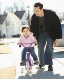 Vader en dochter. Stock Fotografie