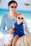 Vader en dochter op Caraïbische vakantie Royalty-vrije Stock Fotografie