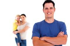 Vader en familie Stock Afbeeldingen