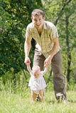 Vader en jong kind Stock Afbeelding