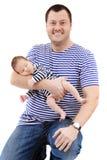 Vader en kind stock fotografie