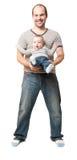 Vader en kind Stock Foto