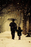 Vader en kind Royalty-vrije Stock Fotografie