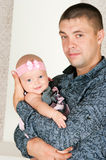 Vader en kleine dochter Stock Foto