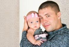 Vader en kleine dochter Royalty-vrije Stock Fotografie