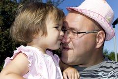 Vader en weinig dochter Stock Foto