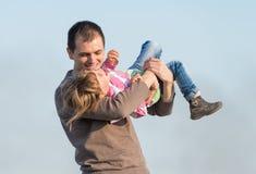 Vader en zijn dochter royalty-vrije stock foto