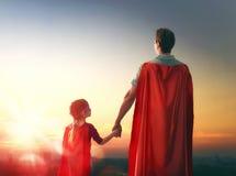 Vader en zijn dochter Stock Foto's