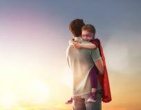 Vader en zijn dochter Stock Fotografie