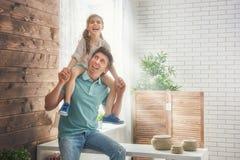 Vader en zijn dochter Royalty-vrije Stock Afbeeldingen