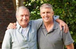 Vader en zijn zoon stock foto's