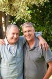 Vader en zijn zoon royalty-vrije stock afbeelding