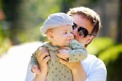 Vader en zijn zoon Royalty-vrije Stock Fotografie