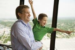 Vader en zoon. Royalty-vrije Stock Foto