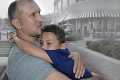 Vader en zoon Royalty-vrije Stock Foto's