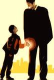 Vader en zoon royalty-vrije illustratie