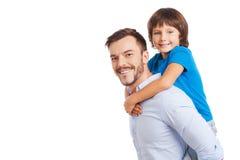Vader en zoon Stock Afbeelding