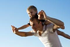 Vader en zoon. stock foto